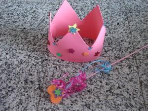 knutselclubje kroon en toverstaf